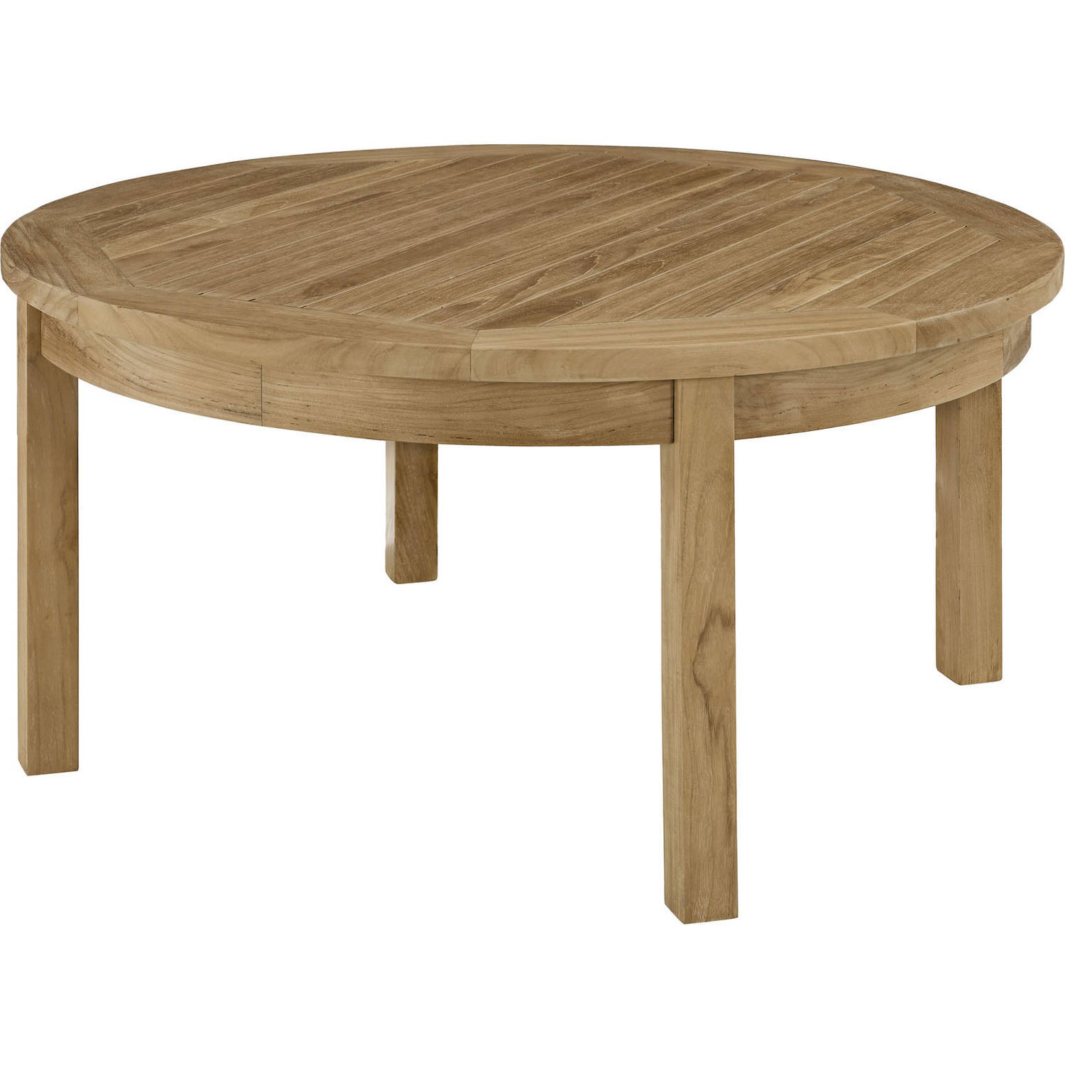 Modway Marina Outdoor Patio Teak Round Coffee Table, Natural by Modway