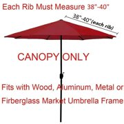 Outdoor Garden Patio Block the Sun 6 Bones Waterproof Anti-UV Cover Accessories (Without umbrella stand)