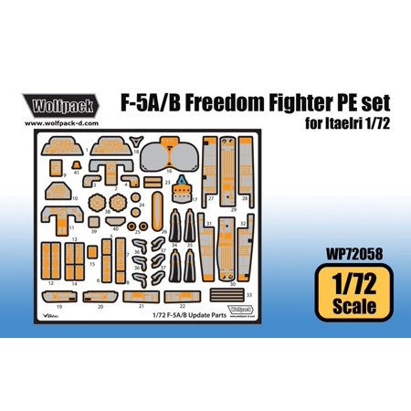 Wolfpack 1:72 F-5 A/B Freedom Fighter PE Set for Italeri Kit - Detail  #WP72058
