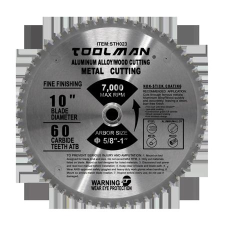 1pcs 10 in. 60T Finishing Circular Diamond Saw Blade For Metal/Alloy/Steel/Wood