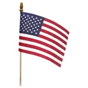 Handheld Miniature American Flag - Vivid Red, White, and Blue Colors that are Perfect for Independence Day, Memorial Day, Veterans Day - 4 Inches by 6 Inches