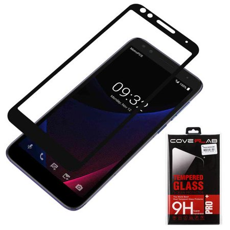 [2 Pack] Alcatel 1X Evolve,Alcatel IdealXTRA Case (5059R), Alcatel TCL LX  (A502DL) Tempered Glass Screen Protector [Full Screen Coverage] - Black