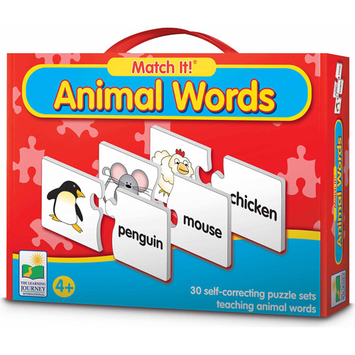 The Learning Journey Match It! Animal Words