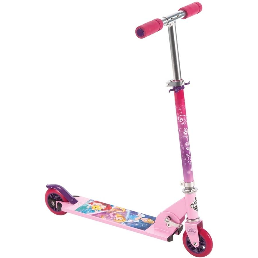 Disney Princess Girls 2 Wheel Pink Scooter By Huffy Walmart Com