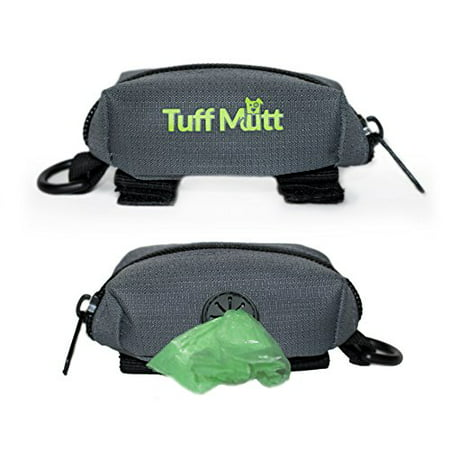 Siberian Husky Leash Holder (Tuff Mutt - Dog Poop Bag Holder Leash Attachment, Includes 1 Roll of Poop Bags, Waste Bag Dispenser, Lightweight Fabric, Walking, Running or Hiking Accessory)