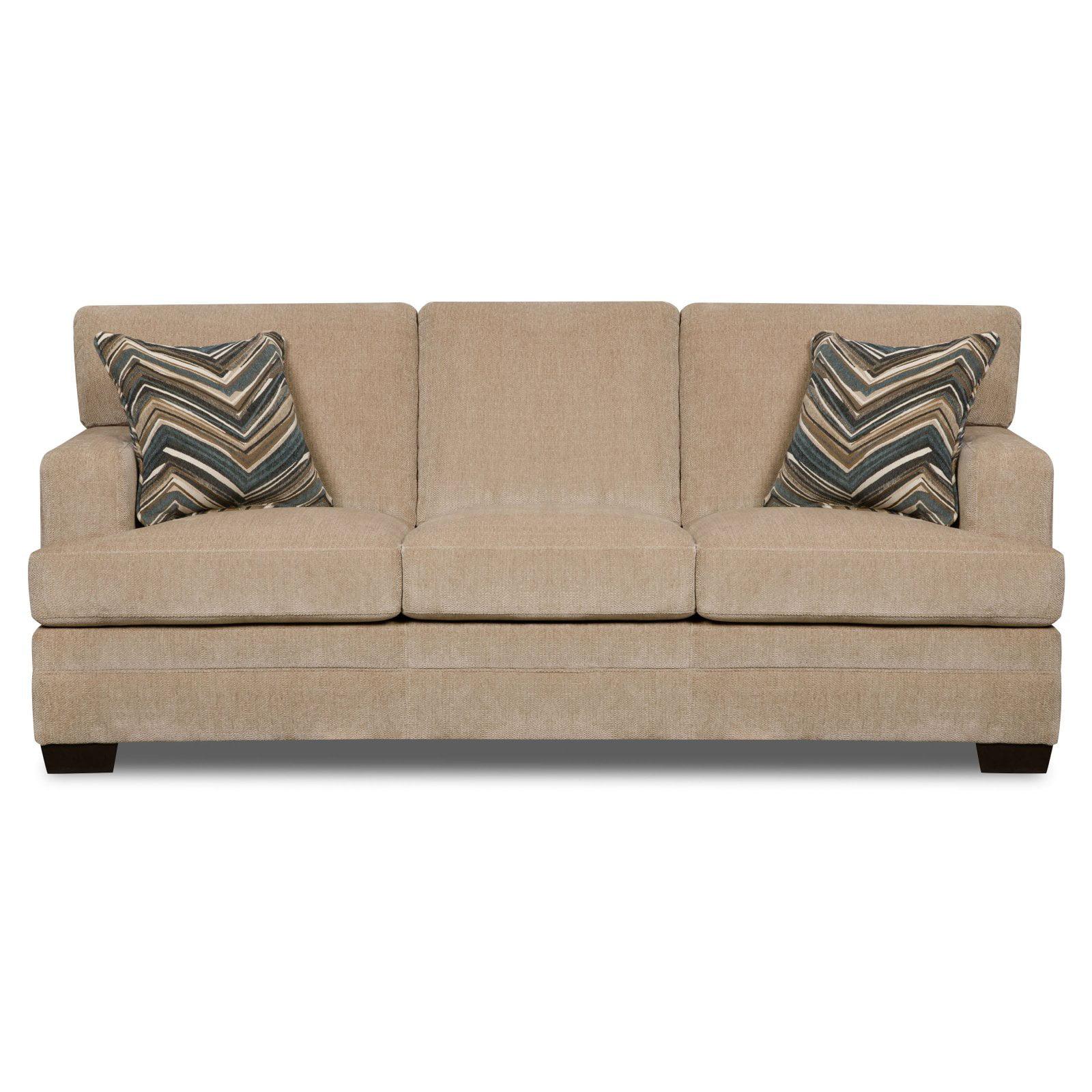 Simmons Upholstery Sassy Sofa   Barley   Walmart.com