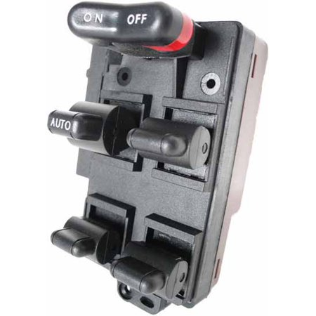 Honda Accord Master Power Window Switch 1990-1993 (replaces BLACK color plug version) (1990 1991 1992 1993) (electric control panel lock button auto driver passenger - 1991 Honda Accord Lx Parts