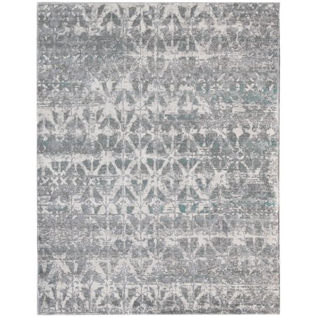 Cambridge Aqua Blue Power-Loomed Accent Rug 2'x3'3