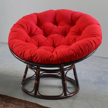 International Caravan 42 In Papasan Chair With Solid