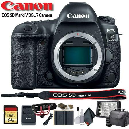 Canon EOS 5D Mark IV DSLR Camera (Intl Model) (1483C002) W/Bag, Extra Battery, L