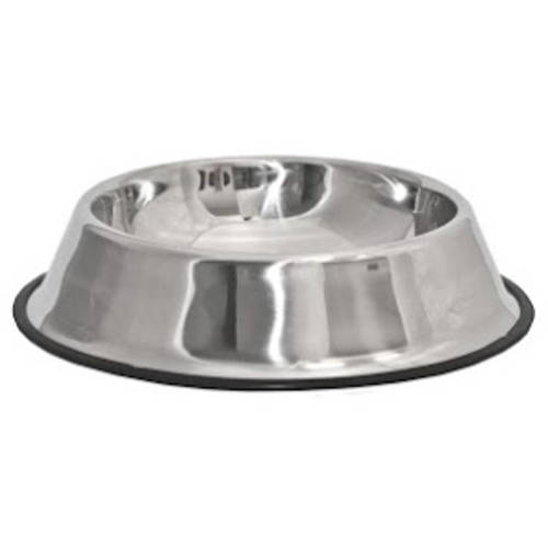 aleko pssb03l large stainless steel pet dog cat puppy food bowl