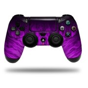 Vinyl Skin Wrap for Sony PS4 Dualshock Controller Fire Purple (CONTROLLER NOT INCLUDED)