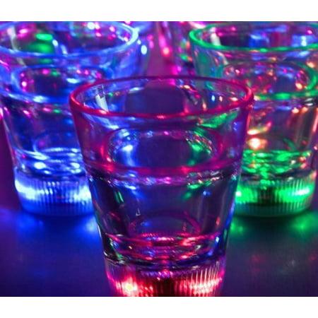 Light Up Multicolor LED Shot Glass Lite Cubes(Quantity=3) By LiteCubes,USA - Light Up Glasses