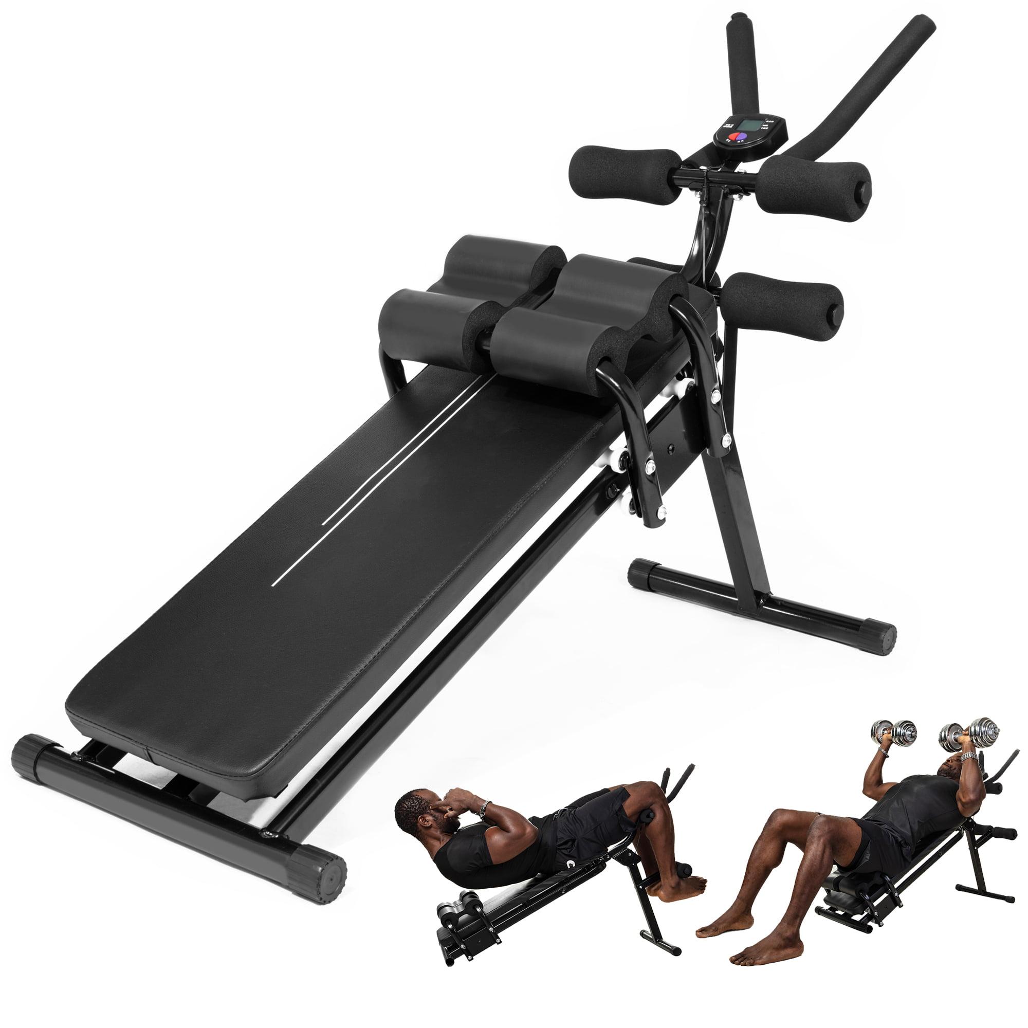 Abdominal Trainer Machine Ab Crunch Machine Sit Up Bench Abdominal Tummy Exercise Equipment Ab ...