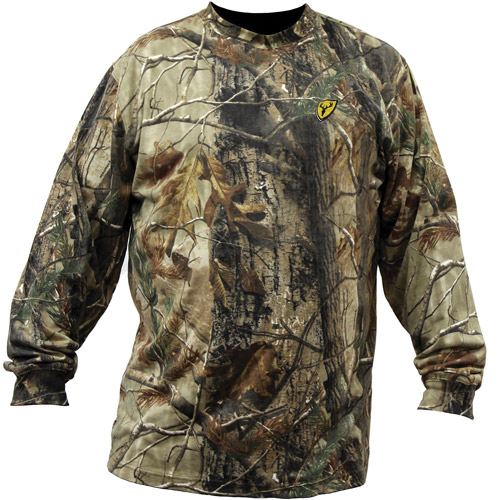 ScentBlocker Fused Cotton Men's Long Sleeve Shirt, Realtree Xtra