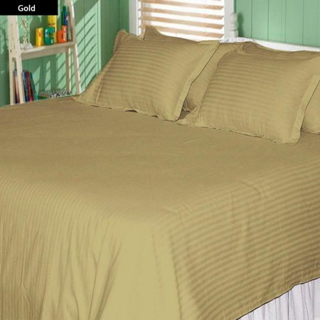 The Great American Store 1800 Series Microfiber 3 Piece Duvet Cover Set Stripe (Full/Queen, Beige) - Wrinkle, Fade, Stain Resistant & Hypoallergenic ()