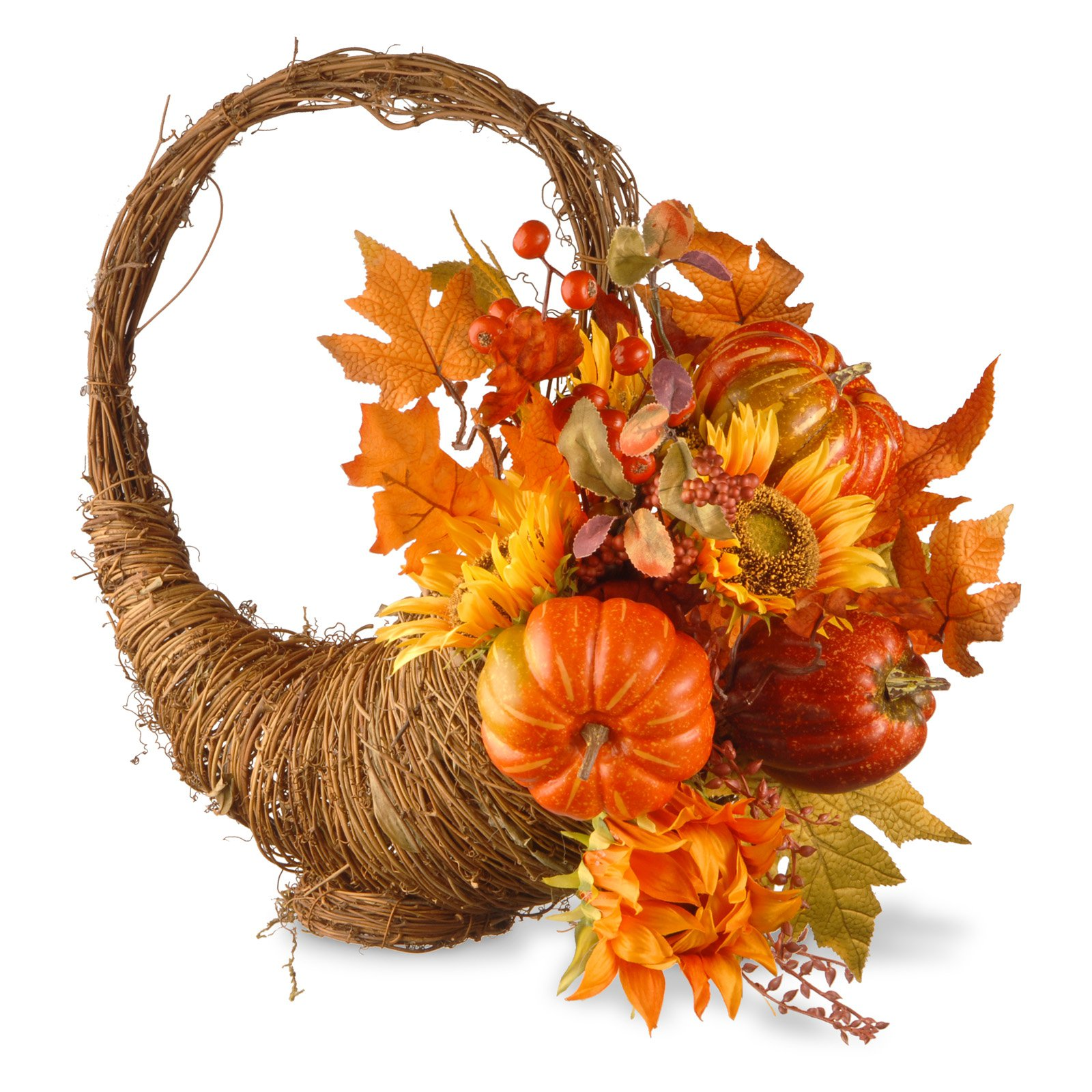 "22"" Autumn Cornucopia Basket"
