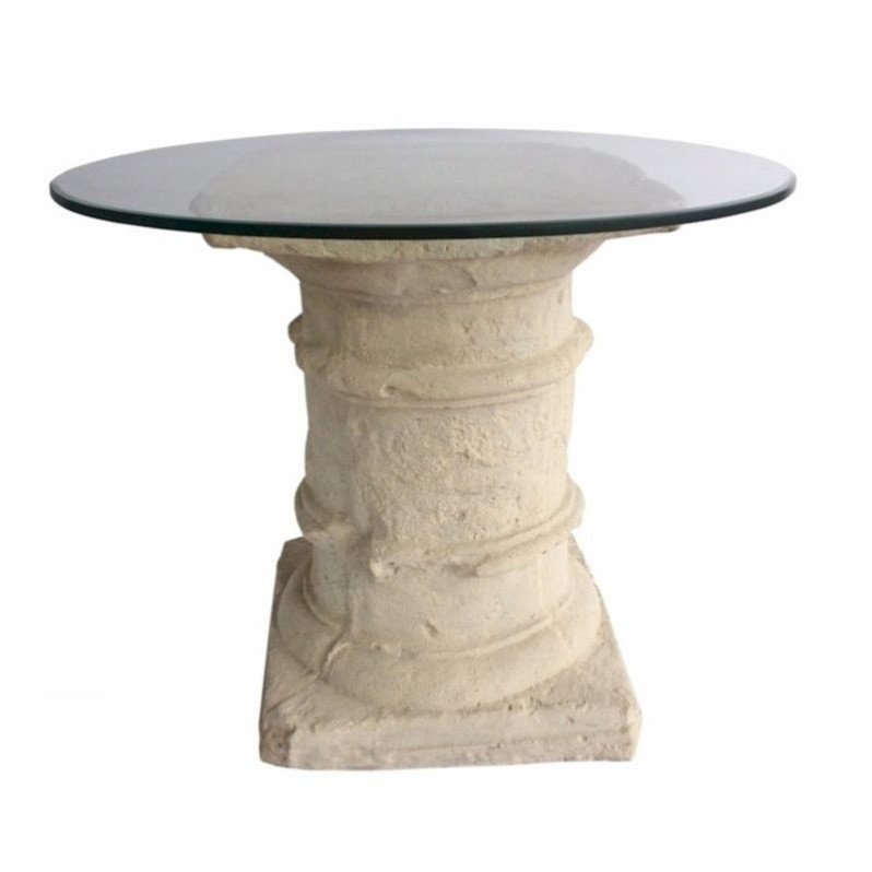 Anderson Teak Etruscan Pedestal Dining Table in Natural Beige by Anderson Teak