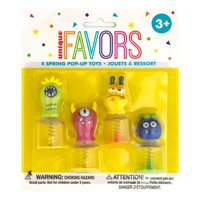 Cute Monsters Spring Pop Up Toys, Assorted, 4ct