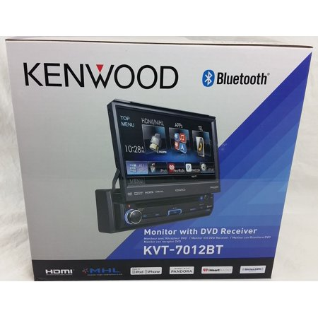 "New Kenwood KVT-7012BT 6.95"" Bluetooth In-Dash Flip-out DVD Car Stereo KVT7012BT by"