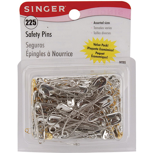 Singer 225 Safety Pins In A Resealable Container