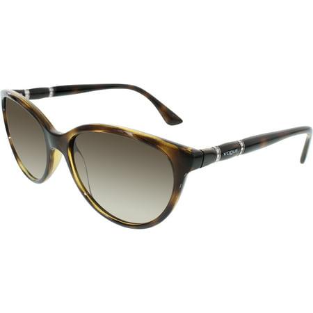 Vogue Women's Gradient VO2894SB-W65613-56 Brown Cat Eye Sunglasses