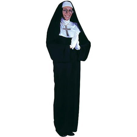 Nun adult halloween costume - one size One Size - Halloween Nun Costumes