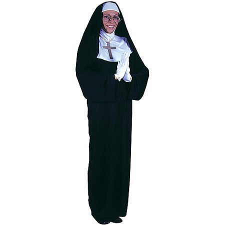 Nun adult halloween costume - one size One Size - Halloween Costume Nun