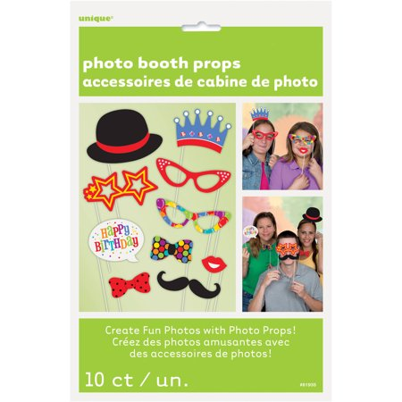 Birthday Photo Booth Props, 10pc](Photo Booth Birthday Ideas)