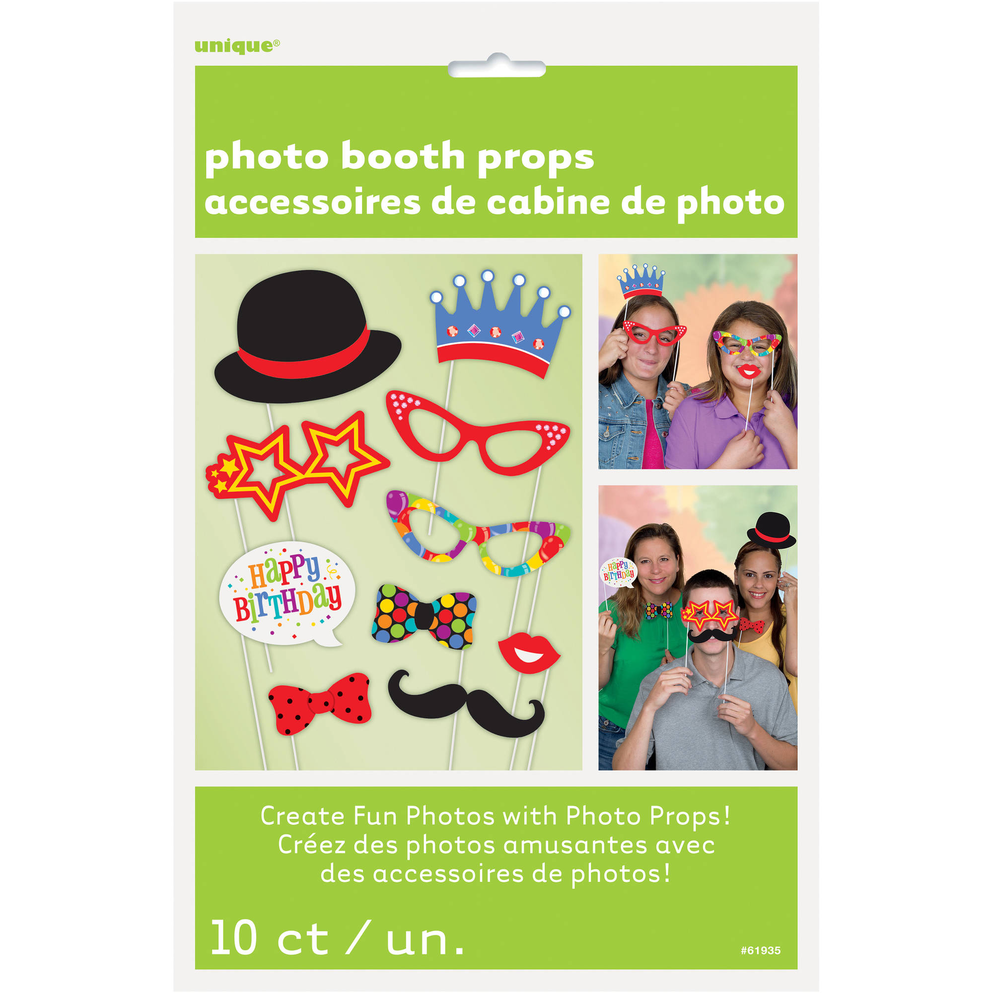 Birthday Photo Booth Props, 10pc