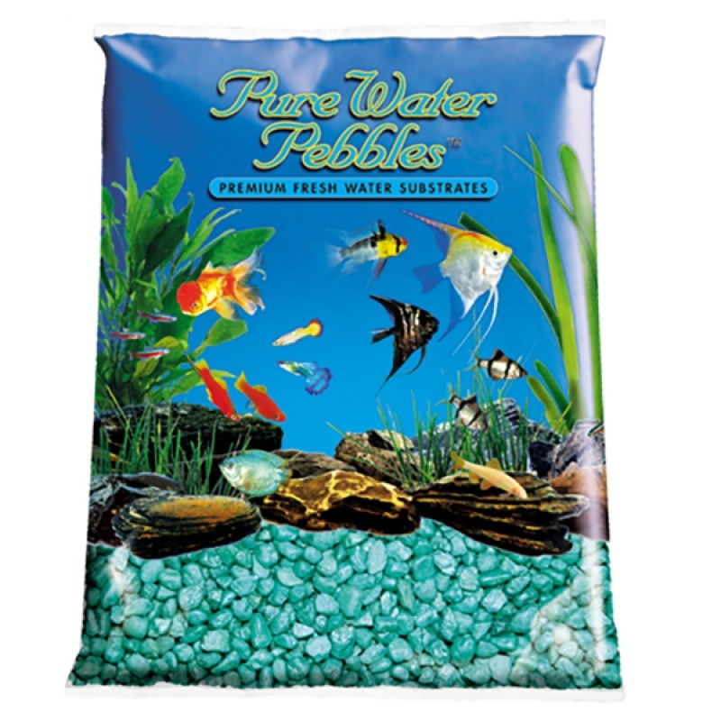 Pure Water Pebbles Aquarium Gravel Emerald Green Frost - 25 lbs - (Grain Size 8.7-9.5 mm)