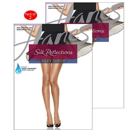 dfc3eca94 Hanes Silk Reflections Reinforced Toe Pantyhose