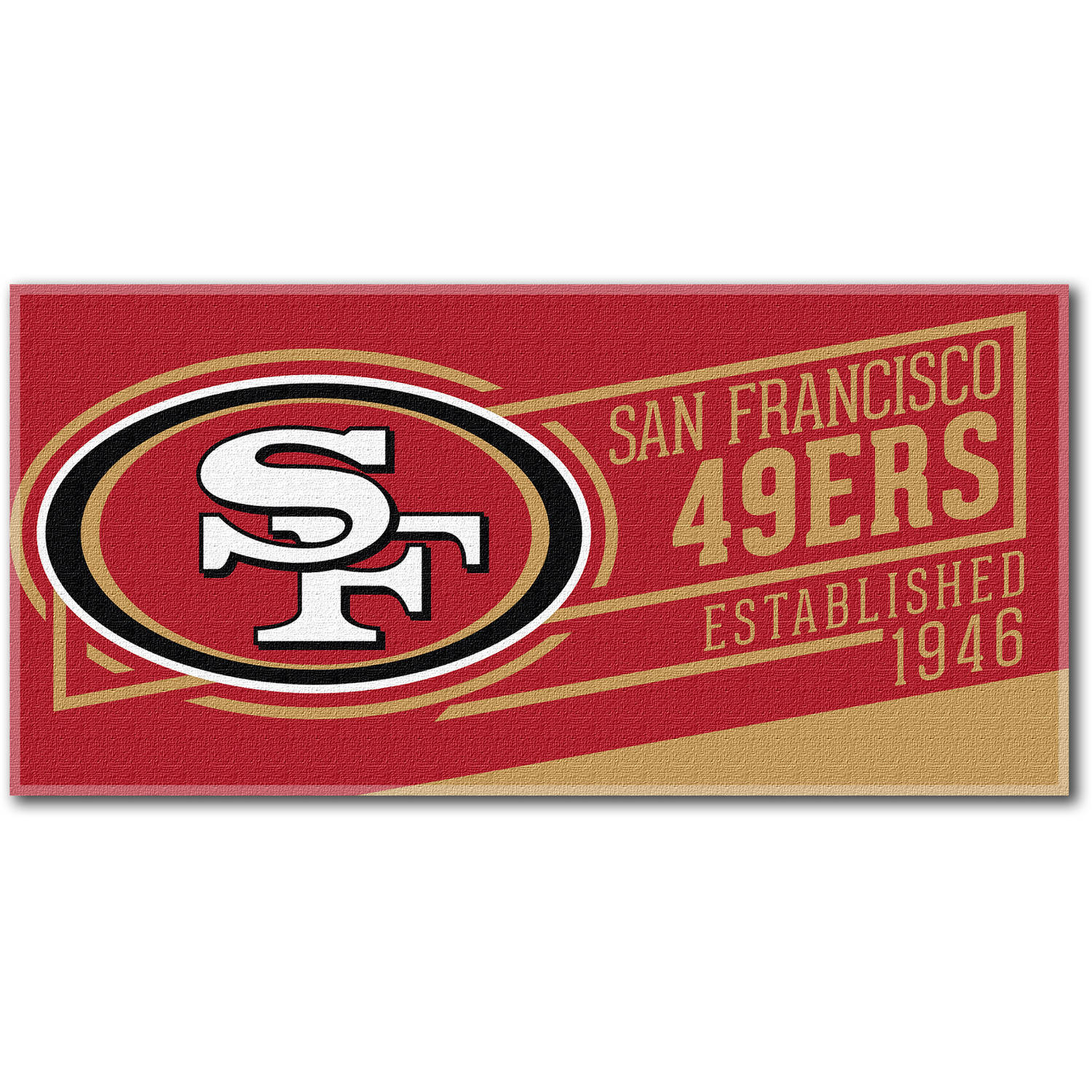 "NFL ""Cut Out"" 30"" x 60"" Beach Towel, San Francisco 49ers"