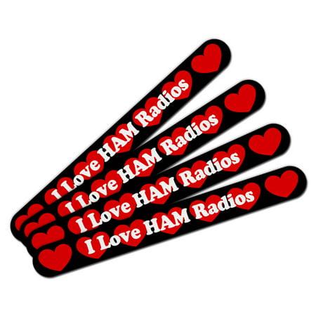 I Love HAM Radios Double-Sided Nail File Emery Board Set 4