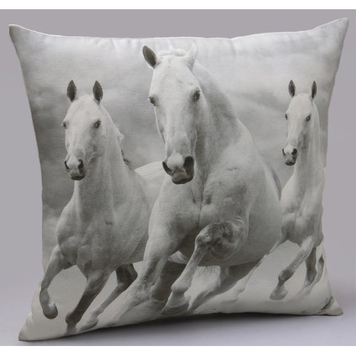 Jovi Home Majestic Horses Cotton Throw Pillow