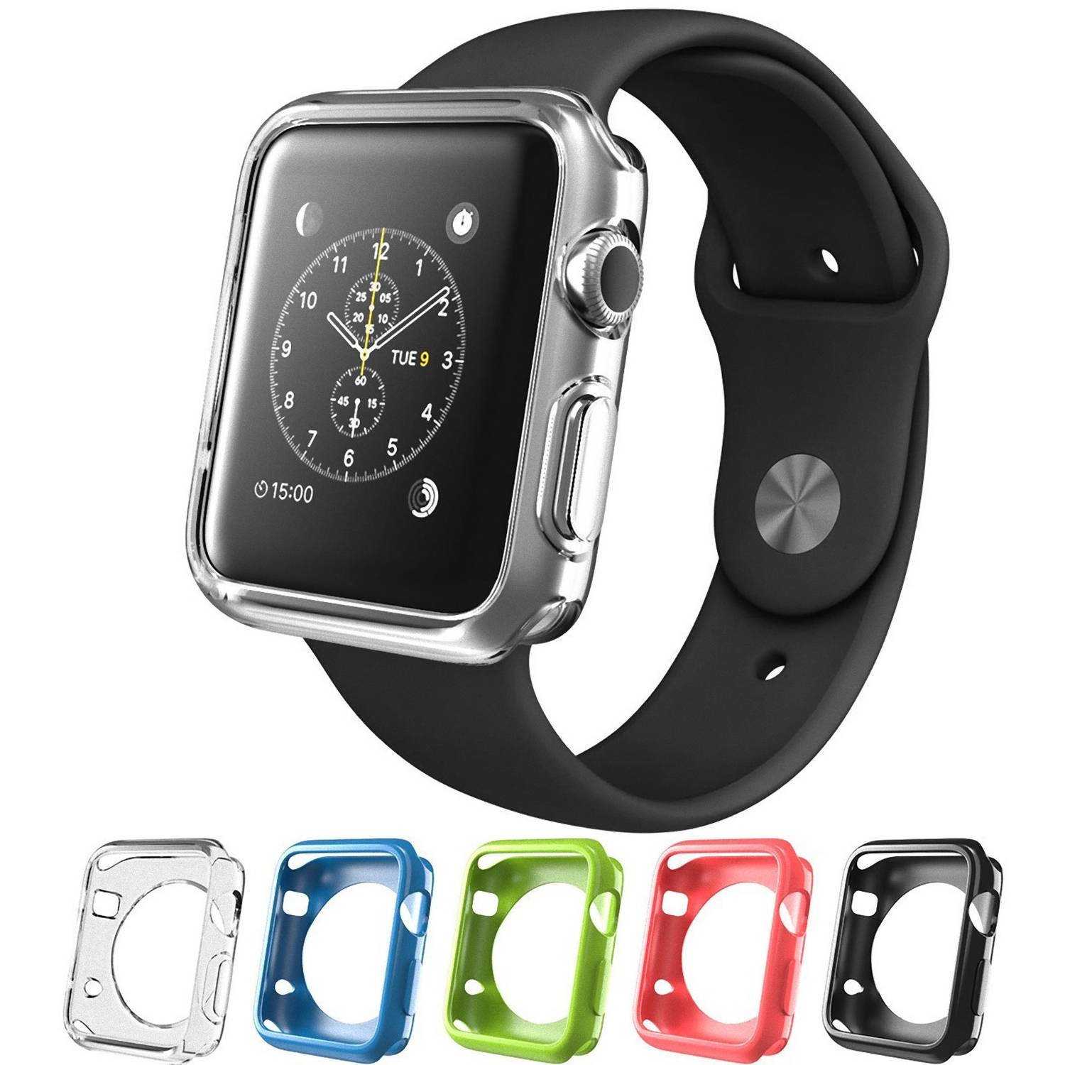 Apple Watch Case, i-Blason TPU Cases ,5 Color Combination Pack  for Apple Watch / Watch Sport / Watch Edition 2015