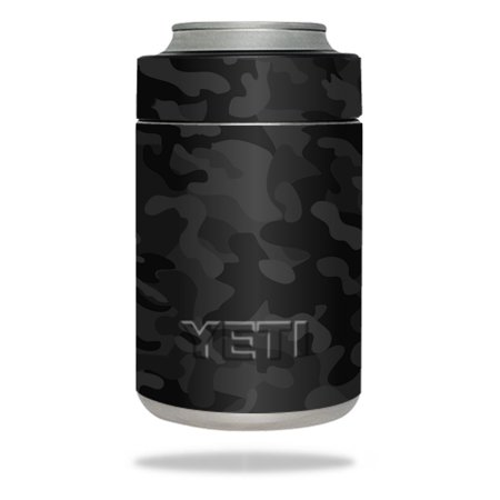 MightySkins Protective Vinyl Skin Decal for YETI Rambler Colster wrap cover sticker skins Black