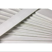 Club Pack of 25 White Colored Wooden Straight Edges with Metal Strips - 12""