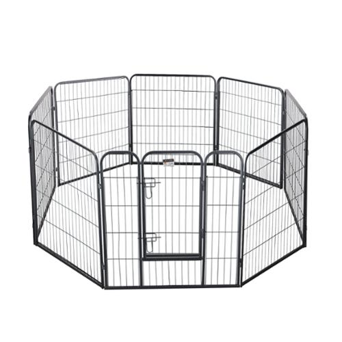 Pet Trex 32 Inch Textured Gray Heavy Duty Playpen For Indoor & Outdoor Use