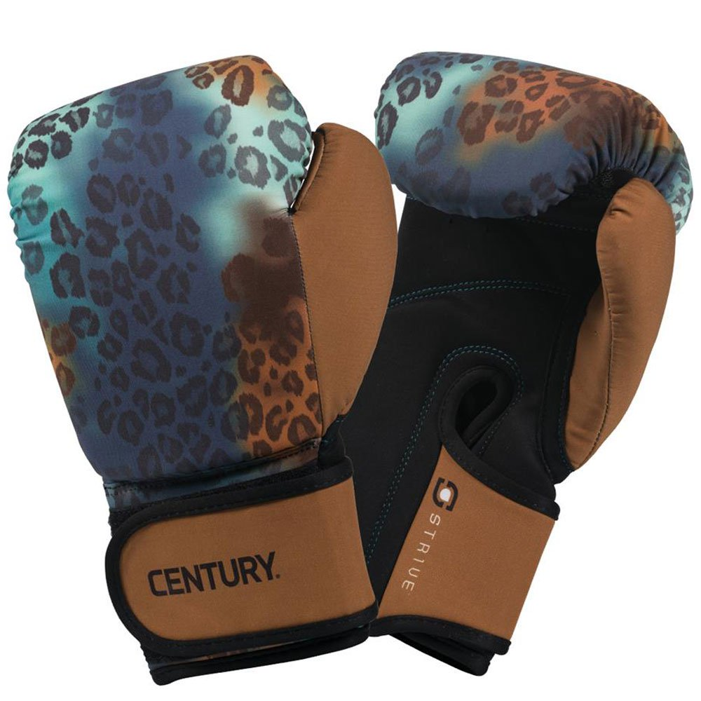Century Strive Durable Womens Washable Boxing Glove, 10 ounces, Leopard Print