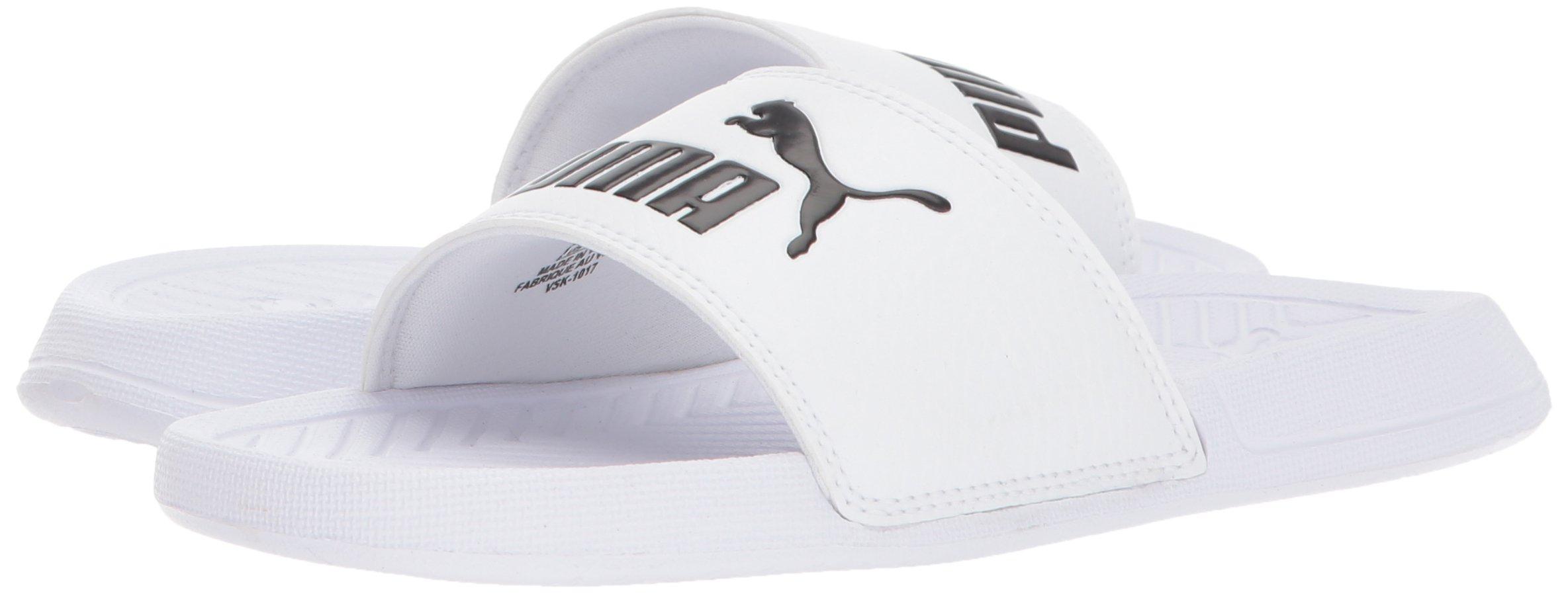 PUMA Puma 365849 03: Unisex Kids Popcat Slide Sandal White
