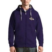 Baltimore Ravens Antigua Victory Full-Zip Hoodie - Purple