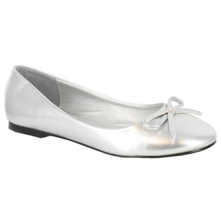 Casual Classic Ballet Flat With String Bow Womens Shoes
