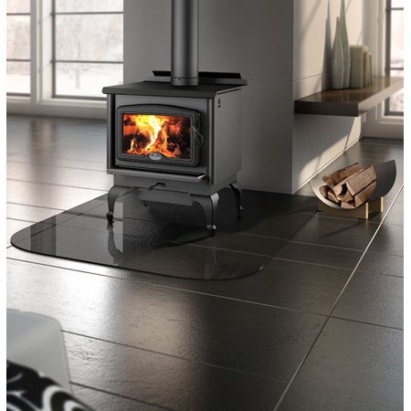 Osburn 1600 Wood Stove w/ Black Door Overlay and Leg Kit
