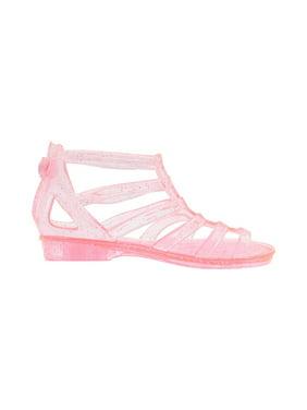 Sara Z Girls Translucent Glitter Ankle Gladiator Jelly Sandals Turquoise Size 13/1