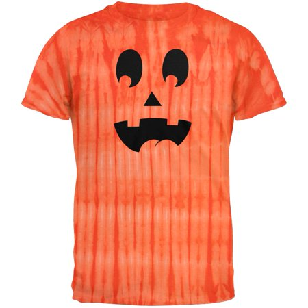 Jack-O-Lantern Surprised Face Tie Dye - Halloween Punch In The Face