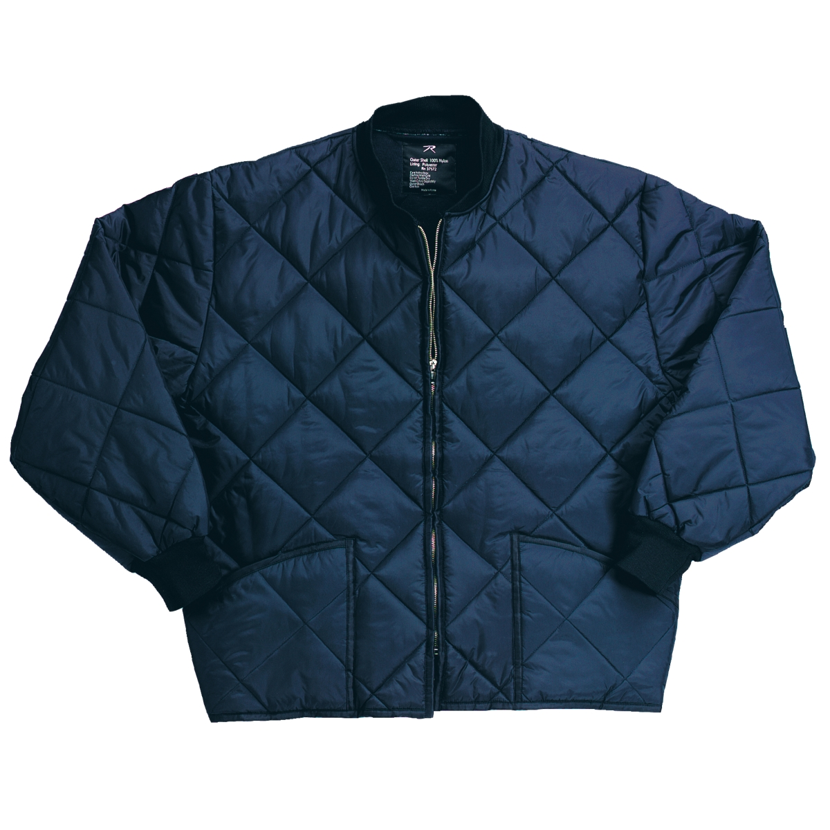Diamond Quilted Flight Jacket, Navy Blue - Walmart.com