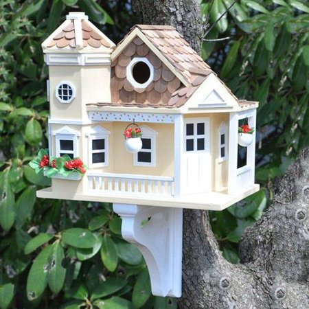 Hb 9092 classic series sea cliff cottage bird house for Classic bird houses