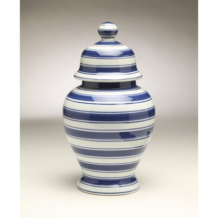 AA Importing 59960 Blue White Ginger Jar