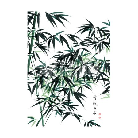 Bamboo Ink Painting. Translation: Wellbeing Print Wall Art By yienkeat